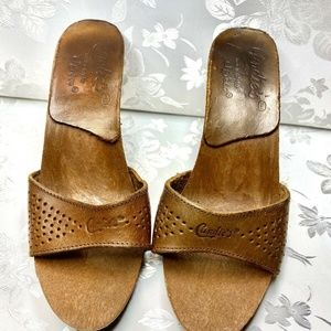 Vintage 80's Candies Original Sandals Tan SZ 5